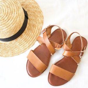 Madden Girl Strappy Brown Flat Sandals